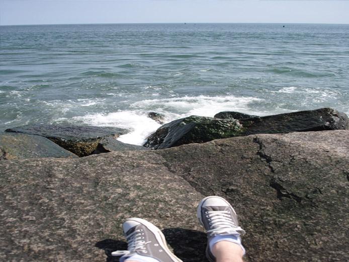Sitzen am Meer